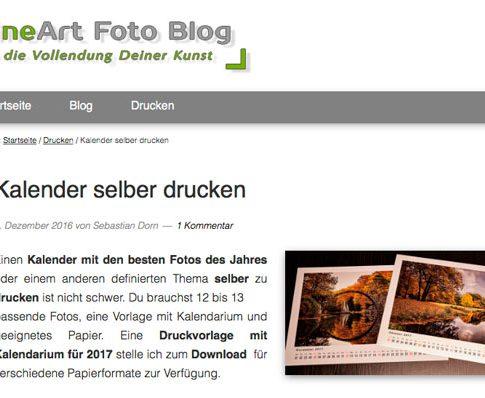 Kalender drucken, SD FineArt Foto Blog